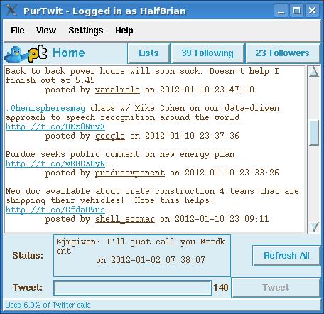 PurTwit - Twitter Feed