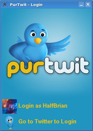 PurTwit Login Page